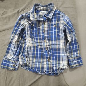 Boys 3T long sleeve button down old navy
